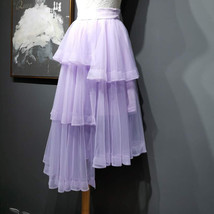 High Waist Hi-lo Layered Tulle Skirt Outfit Plus Size Wedding Outfit Bridesmaid image 5