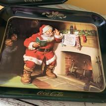 "1989 Coca Cola Haddon Sundblom Christmas Tray ""Santa Please Pause"" - $11.65"