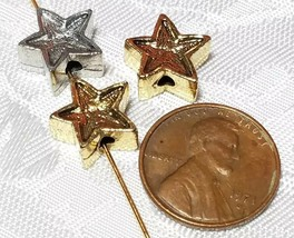 5 Point Star Fine Pewter Bead - 12x12x6mm; Hole 2mm image 2