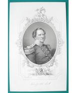 WINFIELD SCOTT Mexican War General - 1856 Portrait Print Ornamental Border - $16.20