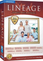 LINEAGE FAMILY TREE SOFTWARE. CREATE YOUR FAMILY TREE IN 4 EASY STEPS. F... - $9.79