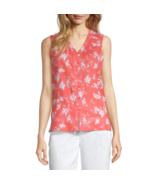 Liz Claiborne V Neck Sleeveless Blouse Size S, XXL New Msrp $37 Rose Garden - $14.99