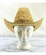 Stomper Natural Open Weave Straw Cowboy Hat - Western Hat - No Band - Si... - $37.95