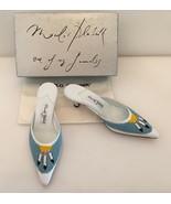 Mano Blahnik One Of My Favorites Feather Design Beaded Mule NIB 38 Retai... - $498.00