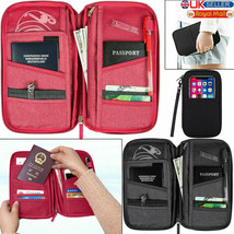 Travel Wallet Passport Holder RFID Organiser Pouch for Cards Documents I... - $5.65