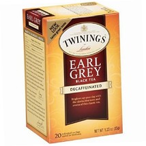 Twinings of London Decaffeinated Earl Grey Black Tea, 1.23 Ounce, 20 Ct 6pk - $23.72