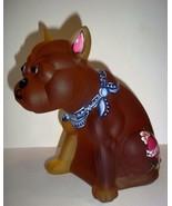 OOAK Amber Satin Glass French Bulldog Doorstop HP by Sunday Davis Westmo... - $223.09