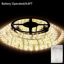 xinkaite Battery Operated LED Strip Lights,6.6Ft/2M Length 120 Units 3528 LEDs,