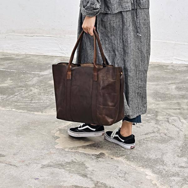 On Sale, Handmade Women Tote Bag, Full Grain Leather Shoulder Bag image 3