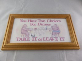 Figi Graphics FG-110 1989 Two Choices For Dinner Bears Wall Decor - $10.00