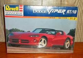 Vintage Sealed Revell Monogram Model Car Kit Red Dodge Viper New 1998 1/25 - $20.00
