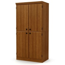 Utility Storage Cabinet with 4 Doors and 2 Adjustable Shelves Home Organ... - $213.99