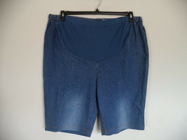 Women's Blue New Additions Maternity Shorts. XL. 99% Cotton/ 1% Spandex. - $16.83