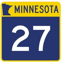 Minnesota State Highway 27 Sticker Decal R4723 Highway Route Sign  - $1.45+