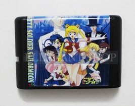 Pretty Soldier Sailor Moon 16 Bit MD Game Card For Sega Mega Drive Genesis - $5.99
