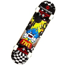 Punisher Skateboards 31-Inch TNT Complete Skateboard, Yellow  - $100.16