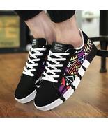 2019 Autumn Hot Men Sneakers Fashion Canvas Lace up Flat Shoes Vulcanize... - $21.78