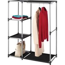 Whitmor Resin Garment Rack and Shelves Black/Gray - $49.90