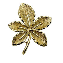 Vintage Sarah Coventry Brooch Pin Maple Leaf In Gold Tone Signed - $11.88
