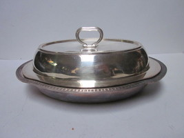 VINTAGE GORHAM Y126 SILVER PLATED LOOP HANDLE LID SERVING BOWL - $9.99