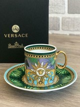 Rosenthal Versace Espresso Cup & Saucer Jungle Animalier New - $170.00