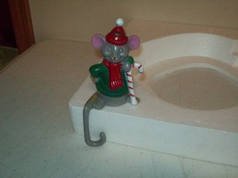 Pixie Mouse Christmas Stocking hanger vintage 1960's Hong Kong - $12.38