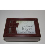 Carson Home Accents  Wood Cross  Music Box  Plays AMAZING GRACE - $18.80