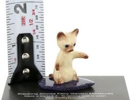 Hagen Renaker Miniature Siamese Kitten Sitting Up on Base Stepping Stones #2749 image 2