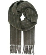 Salvatore Ferragamo  Men's Herringsbone Striped Scarf  MSRP: $350.00 - $326.34 CAD