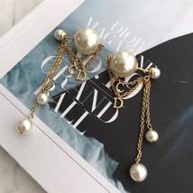 AUTH Christian Dior 2019 DIOR TRIBALES Multi Chain Dangle CD Logo Drop Earrings  image 3