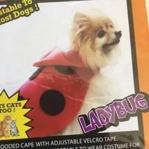 Pet Halloween Costume Lady Bug Dog or Cat Red & Black Polka Dot Parade S... - $5.99