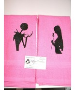 Nightmare Jack & Sally Silhoutte Personalized Dish Kitchen Hand Towels - $18.56