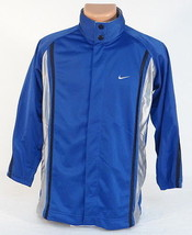 Nike Basketball Blue Snap Front Mesh Lined Track Jacket Youth Boys Large... - $55.68