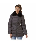 Rocawear Plus Asymmetrical Puffer With Faux Fur Collar Titanium Gray 1X NWT - $95.79