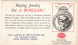 Vintage Advertising Ink Blotter Buying Jewelry for a Burglar - $12.86