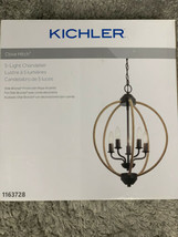 New Kichler Clove Hitch 5-Light Olde Bronze Coastal Chandelier Retail $129 - $110.00