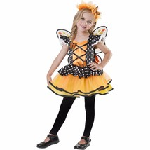 NEW Girls 3T-4T Halloween Costume Monarch Fairy 3 Piece Costume Wings Dress - $14.99