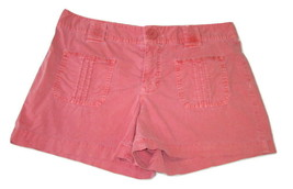 Old Navy Shorts Chino Khaki Distressed Red Womens Size 8 - $8.90