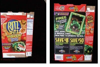 Ritz Bits Sandwiches Peanut Butter Marvel Incredible Hulk Trading Card 2003