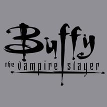 Buffy Vampire Slayer T-shirt retro 1990's horror movie cotton graphic grey tee image 2