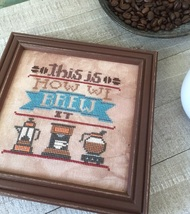 Brew It #3 Cool Beans series cross stitch chart Hands On Design  - $5.40