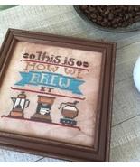 Brew It #3 Cool Beans series cross stitch chart... - $5.40