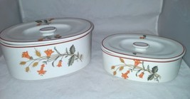 2 Ironstone Ware Covered Casserole Dish Occupied Japan Honeysuckle Wheat... - $31.19