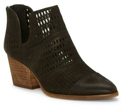 Vince Camuto Niranda Leather Perforated Booties, Multiple Sizes Black VC... - £96.31 GBP