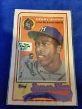1989 LJN Topps Baseball Talk - #41 - Henry Aaron - Milwaukee Braves - MLB - $5.65