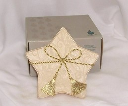Partylite Shining Star Gift Set 6 Votives Gold Brocade Fabric Shiny Beau... - $14.80