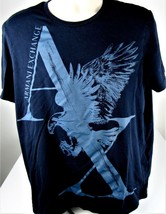 Armani Exchange AX T-Shirt  Men's X-Large Black & Gray Designer Casual R... - $24.70
