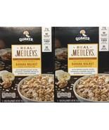 Quaker Real Medleys Banana Walnut Multigrain Oatmeal (2 Pack) ~ Free Shi... - $14.85