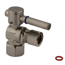 """Fauceture CC44408DL 1/2"""" IPS, 1/2"""" O.D. Compression Angle Valve, Satin Nickel - $37.03"""
