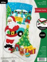 Bucilla Camper Santa Travel Vacation Holiday Christmas Felt Stocking Kit... - $39.95